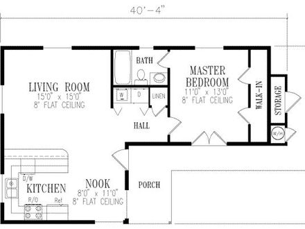 1 Bedroom House Plans 1 Bedroom Cottage House Plans