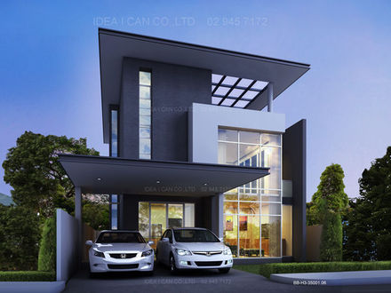 Beautiful Two-Story House Modern Two Story House Plans