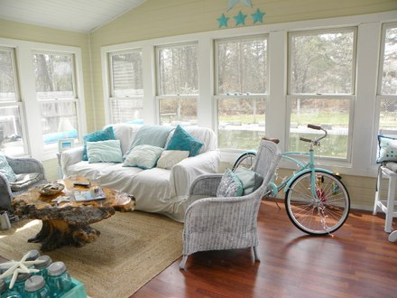 Cottage Chic Living Rooms Beach Cottage Living Room Decorating Ideas