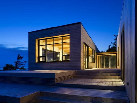 Cottage Home in Canada this island cottage is 'superkul' Modern Houses in Canada