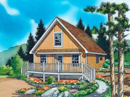 Small vacation cottage home plans small cottage ideas for Country cabin designs