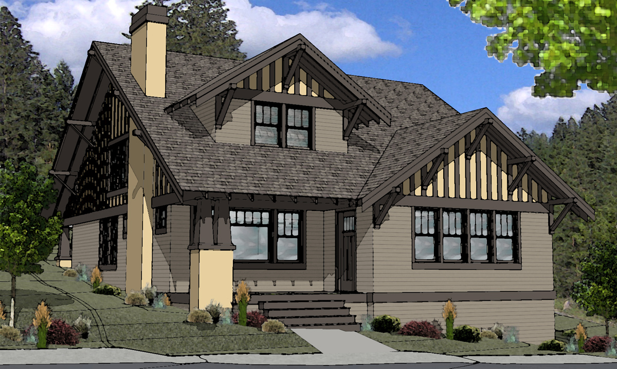 Craftsman style homes oregon craftsman style homes floor for House plans oregon