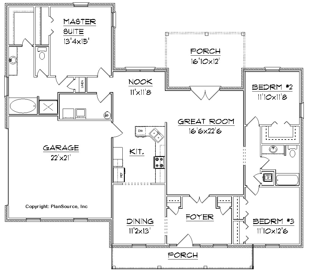 Free house floor plan design free home floor plans 4 for Free house plans with pictures