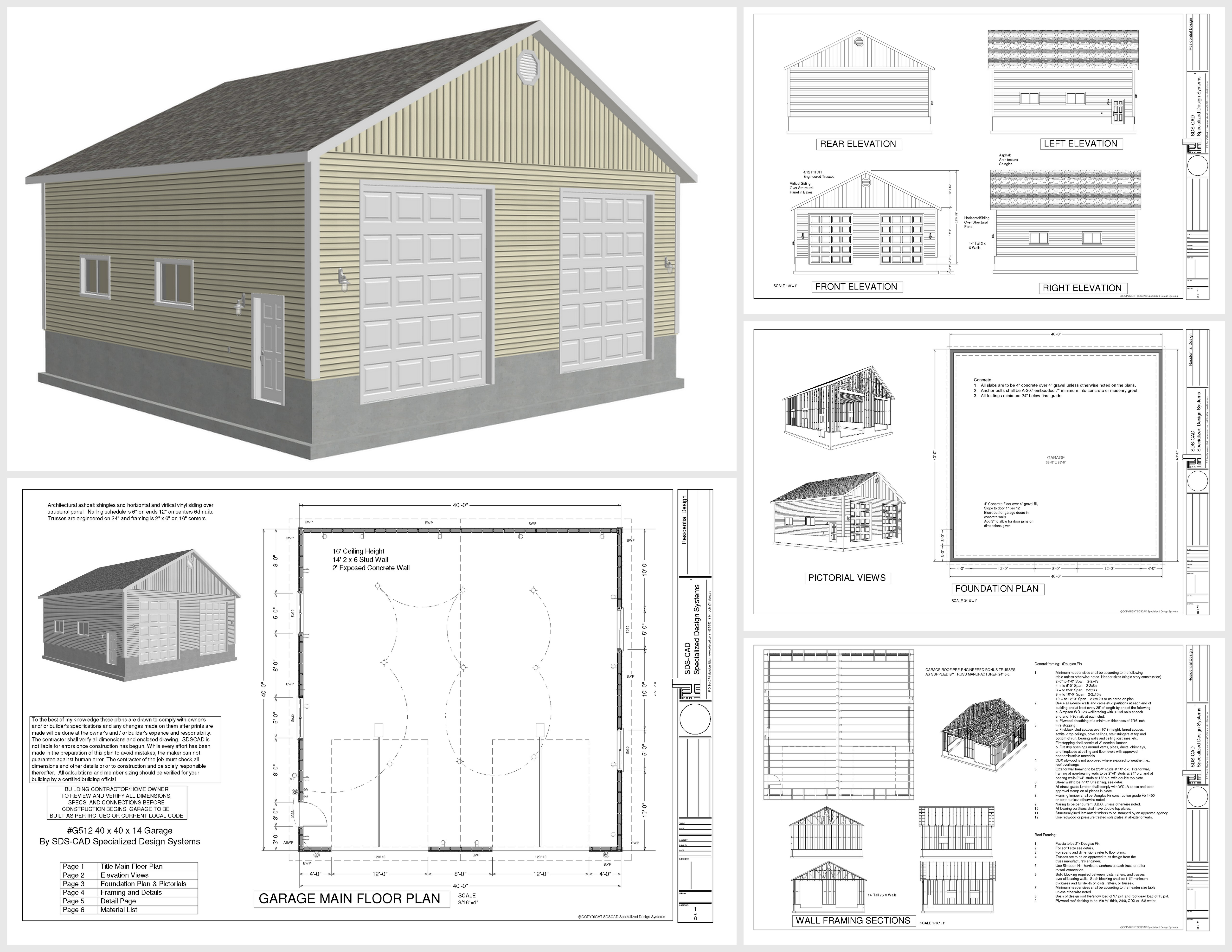 Free standing garage plans free garage plans 40x40 house for 40x40 house plans
