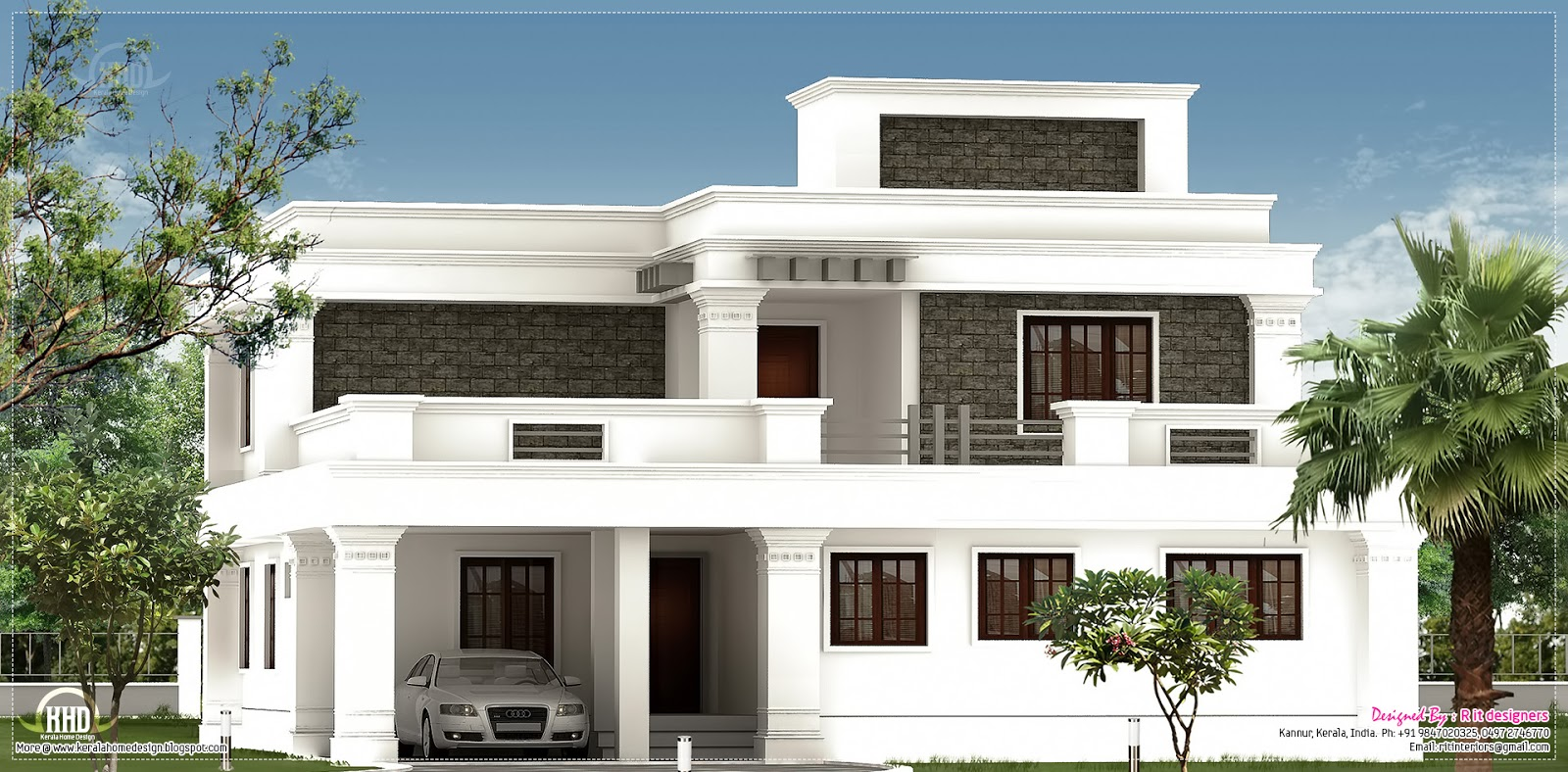 House plans flat roof designs flat roof house designs for Bungalow roof styles