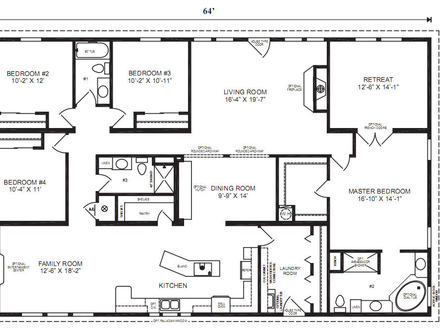 Small modern house small modular house floor plans home for Modular ranch plans