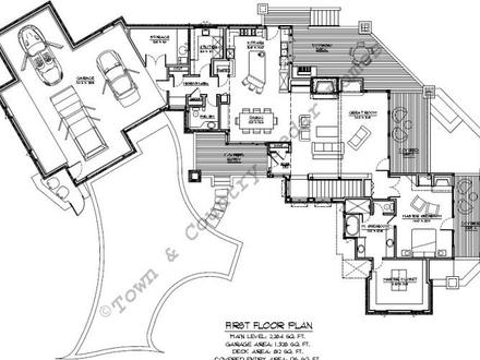 Log lodge house plans lodge log homes floor plans large for Large ranch style house plans