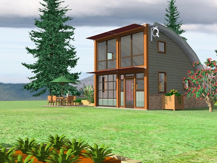Backyard cottage small houses mother in law backyard for Mother in law house kit