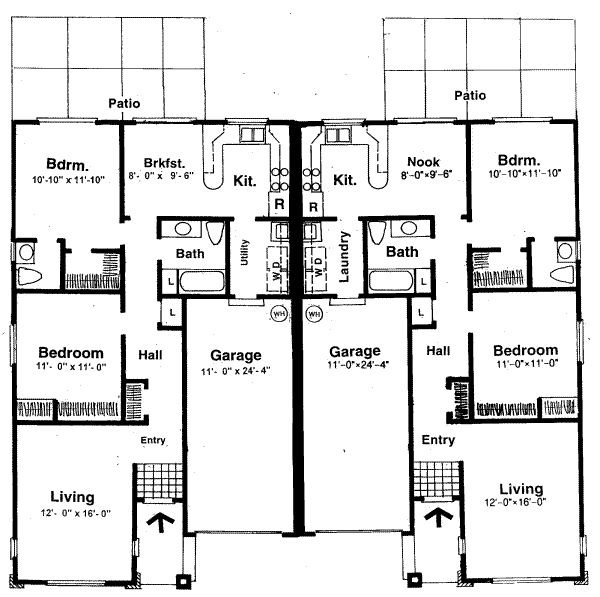 Small two bedroom house plans house plans with two master for Ranch house plans with 2 master suites
