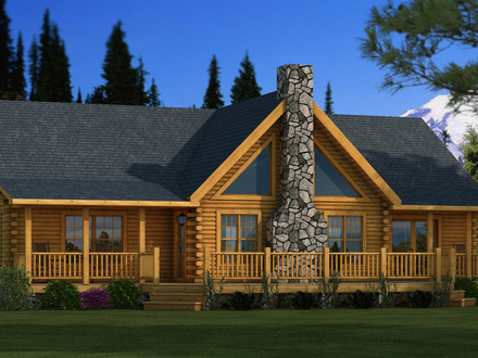 Adair Log Home Plan 26X36 Plans Log Home