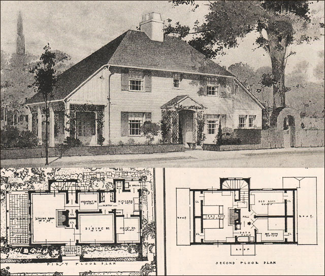 Arts and crafts movement arts and crafts home design plans for Arts and crafts floor plans