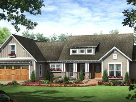 Craftsman one story home designs craftsman home design 2 for Craftsman rambler house plans