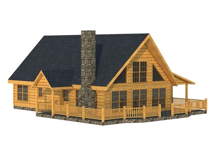 Duplin log cabin floor plan southland log homes rustic log for Square log cabin plans