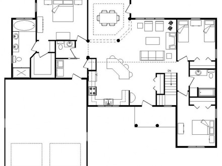 Log Homes with Open Floor Plans Log Home with SH