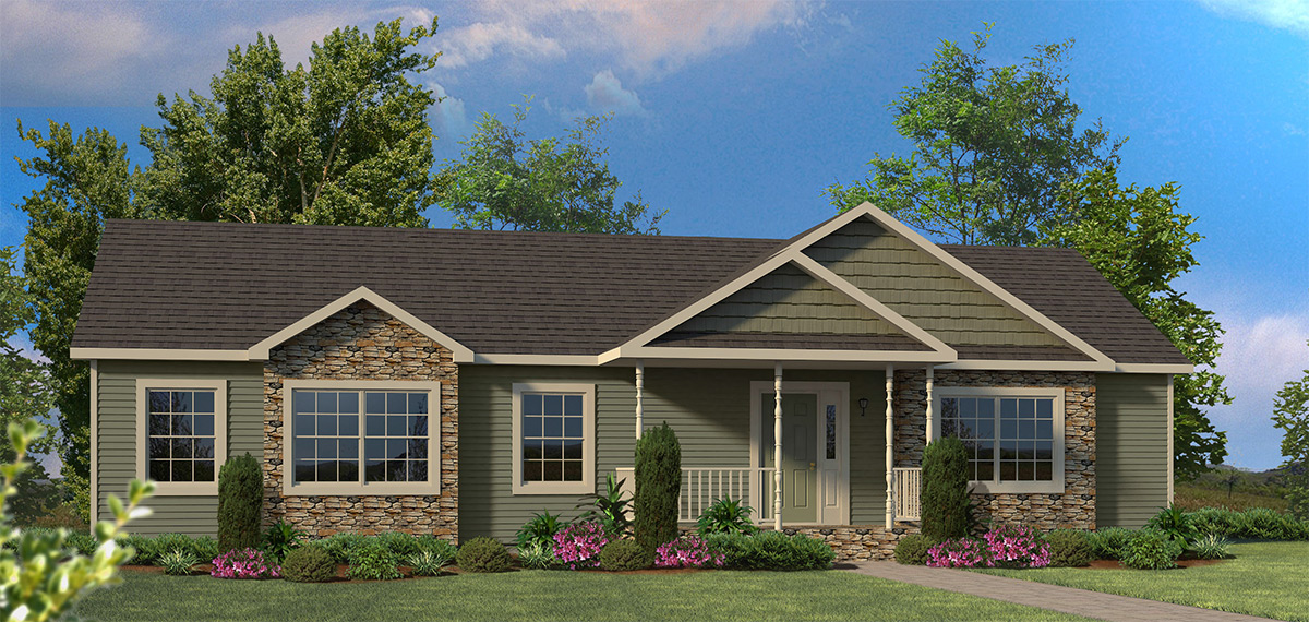 Ranch Style Modular Homes Front Porches For Ranch Style