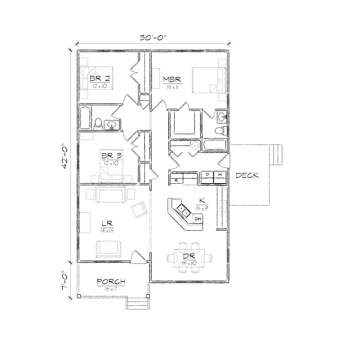 Bungalow 3d Floor Plan: Small Bungalow Floor Plans Micro Cottage Floor Plans, Two