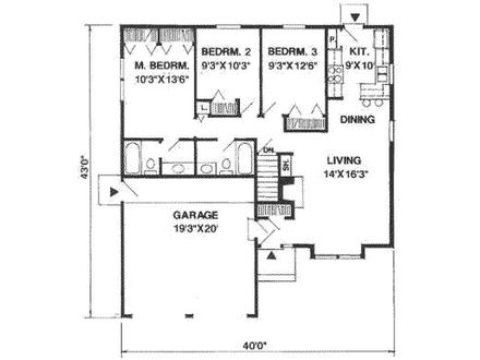 1100 sq ft ranch floor plans 1100 sq ft home 1100 square for 1100 square feet house plans
