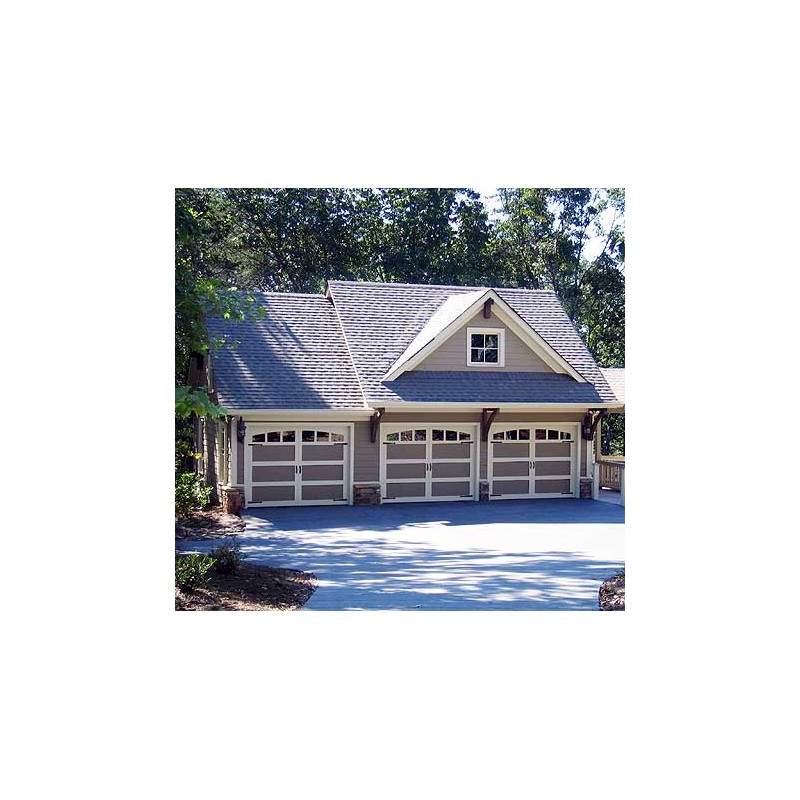 Carriage House Plans > Rustic 3 Bay Guest House Plan Craftsman Carriage House Plans