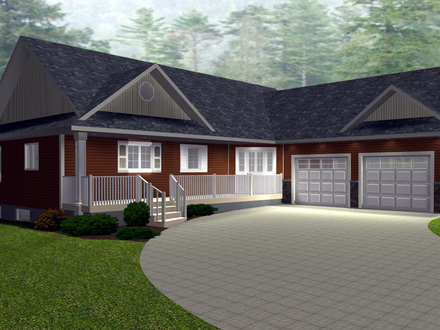 American colonial style homes american bungalow style for Texas ranch house floor plans