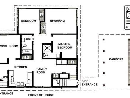 Kitchen On the Front Two Bedroom House Plans Small Two Bedroom House Plans