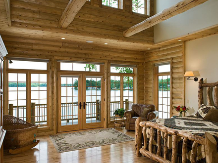 Log Cabin Master Bedrooms Rustic Log Cabin Bedroom