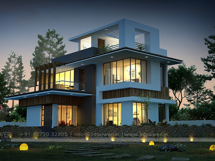 Modern House 3D Model Modern Power 3D House Design
