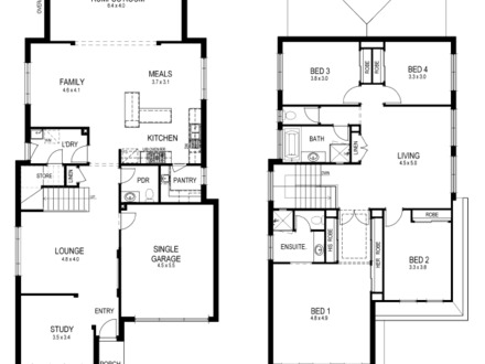 Small Narrow Lot House Floor Plans Ranch Homes for Small Lots