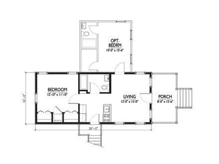 1 Bedroom Cabins 1 Bedroom Katrina Cottage Floor Plans