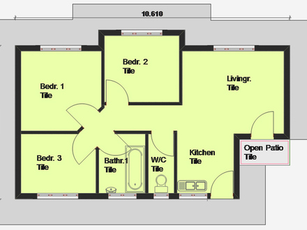 3-Bedroom Ranch House Plans 3 Bedroom House Plan South Africa