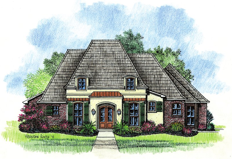 French country house plans country southern house plans for Southern french country house plans