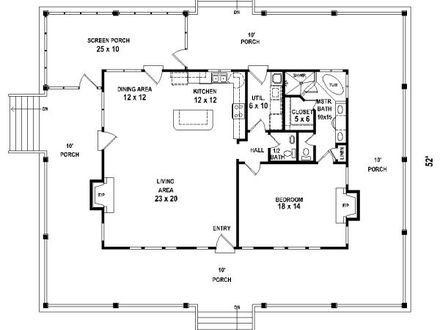 Simple One Bedroom House Plans Small One Bedroom House Plans