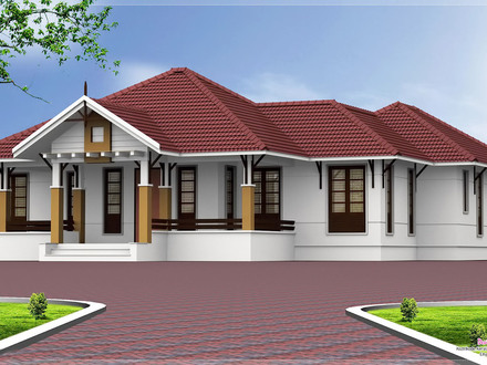 Single Story Open Floor Plans Kerala Single Floor 4 Bedroom House Plans
