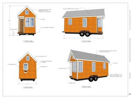 Tiny 160 Sq Ft House Plan Micro Houses Under 600 Sq FT