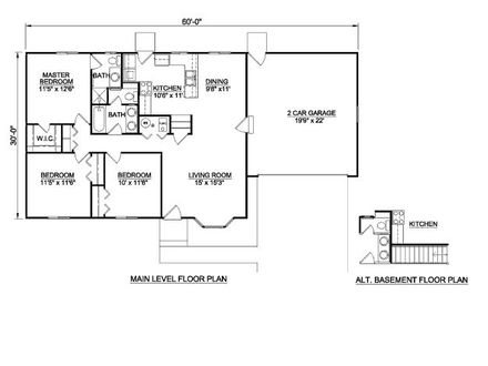 2 Bedroom 1200 Square Foot House Plans 1200 Square Feet 3 Bedroom House Plans
