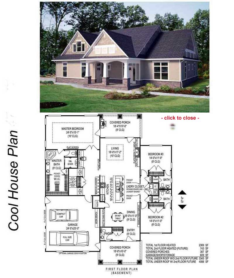 Mediterranean Style Homes Bungalow Style Homes Floor Plans
