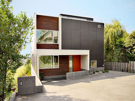 Modern Gray Contemporary Home Contemporary Home Modern House