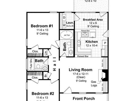 1000 Sq FT Room Small 1000 Sq Ft House Plan
