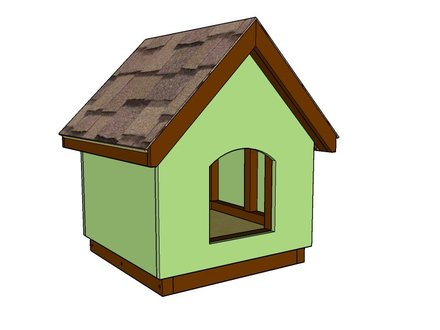 DIY Dog House Plans X-Large Dog House Plans