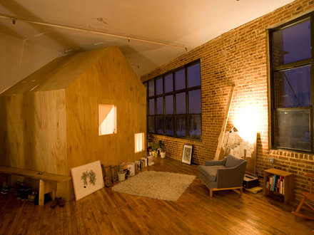 small space: cabin in a loft Small Cabins Tiny Houses