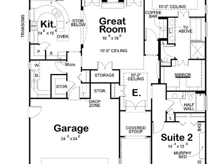 Two Bedroom Apartment Plans Modern Two Bedroom House Plans