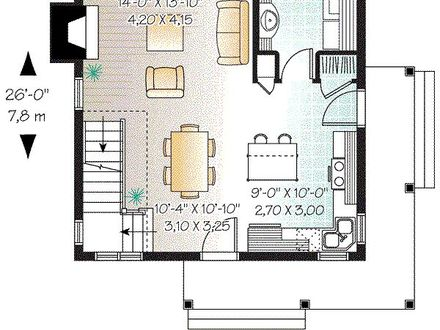 10 X 10 Square Feet 1200 Sq Foot 2 Bedroom House Plans