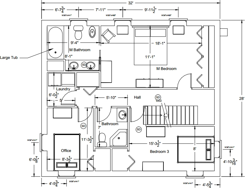 Floor home house plans with office simple small house for Small home office floor plans