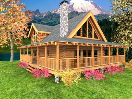 Log Cabin Floor Plans with Wrap around Porch Open Floor Plans Log Cabin