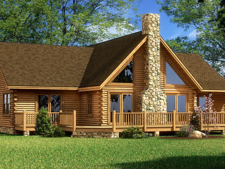 Log home floor plans small log cabin homes plans river for Cabin designs and prices