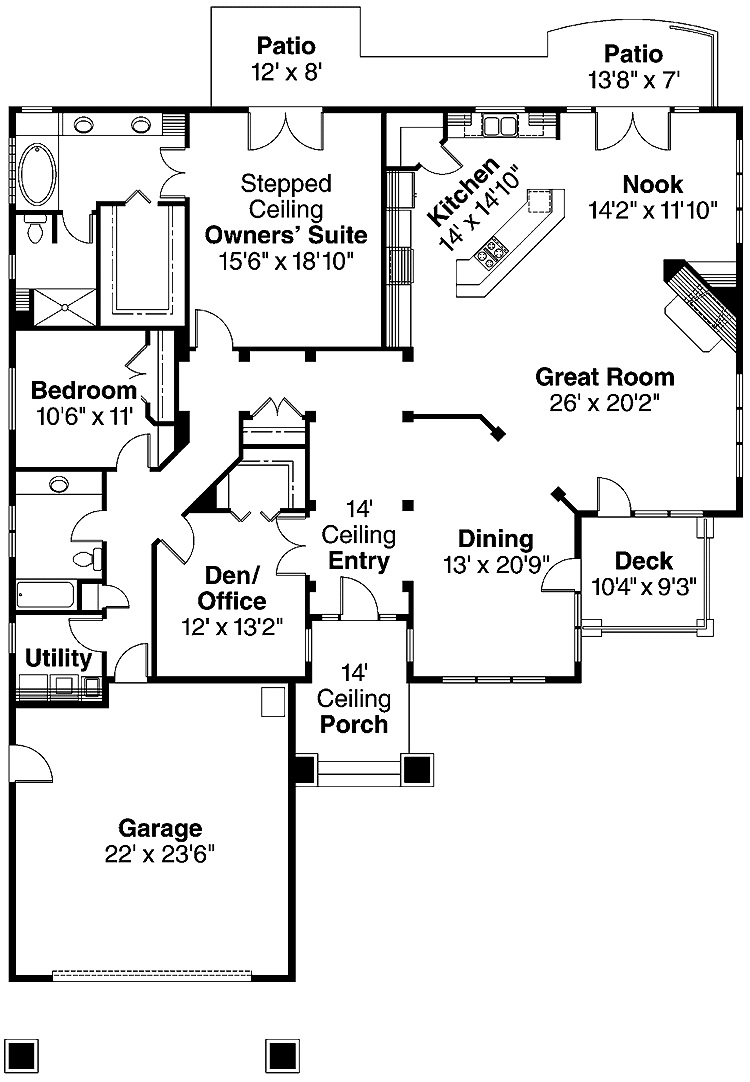 two bedroom house plans with garage small 2 bedroom house