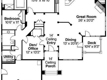 Two Bedroom House Plans with Garage Small 2 Bedroom House Plans