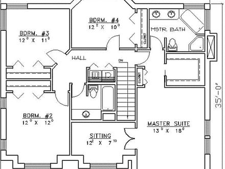 4 Bedroom House Plans 4-Bedroom Ranch House Plans