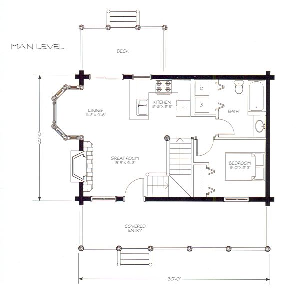 Big log cabins small log cabin floor plans little cabin for Large cabin floor plans