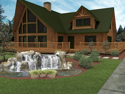 Small Luxury Log Home Plans Inside a Small Log Cabins