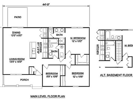 3 Bedroom 1200 Sq Ft House Plans 3 Bedroom Apartments